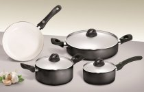 7 Pieces Set Rondine Light Cook Black