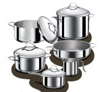 10 Pieces Set Diletta Inox Induction